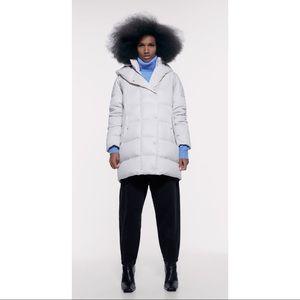 ZARA water repellent down filled coat